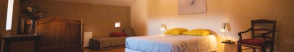 chambre le refuge 3 lits et banquette spacieuse